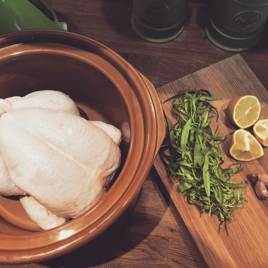 Slow Cooker Tarragon Chicken and Homemade Chicken Stock