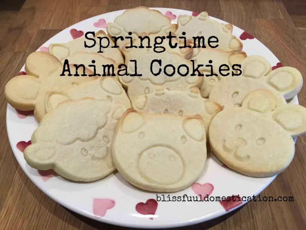 Springtime Animal Cookies