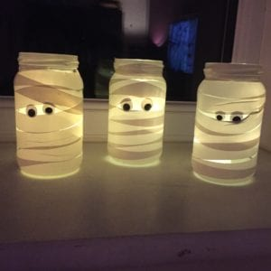 Super Simple Mummy Jam Jar Laterns
