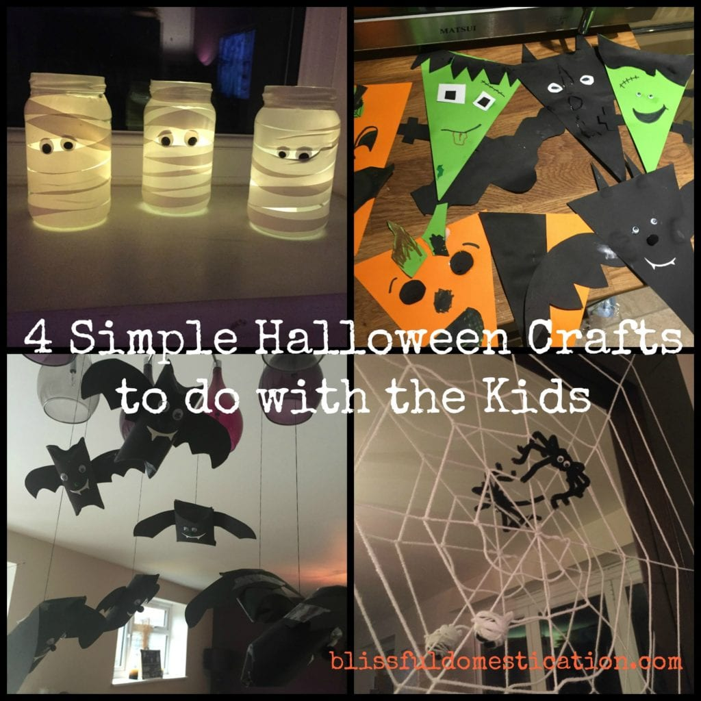 4 simple halloween crafts to do with the kids