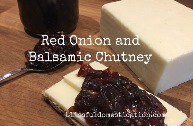 Red Onion and Balsamic Chutney