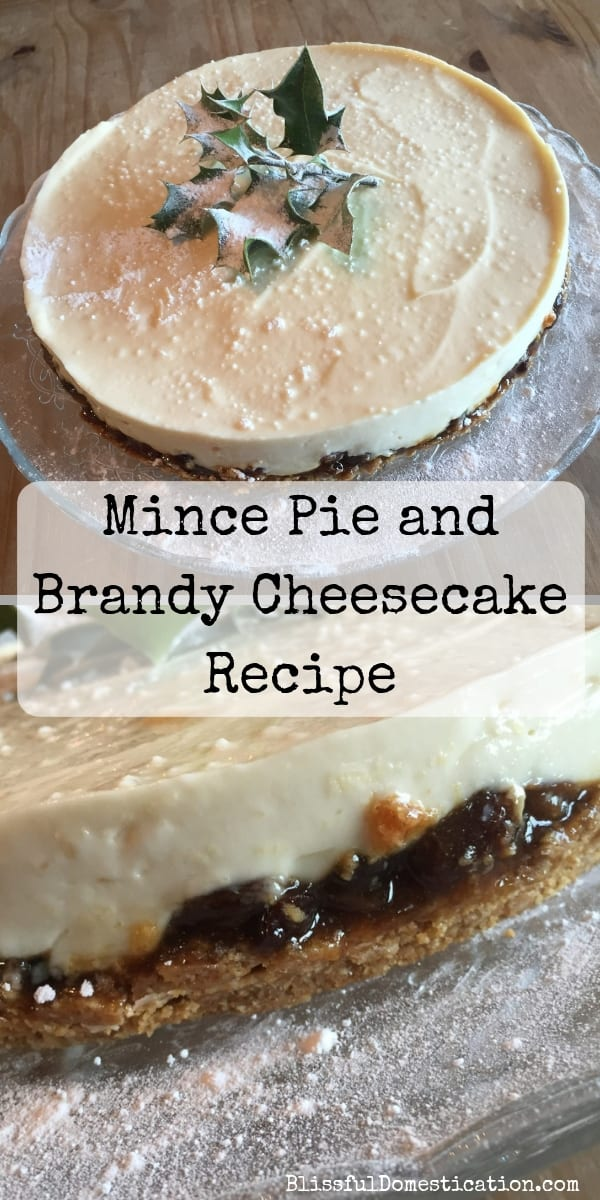 Mince Pie and Brandy Cheesecake
