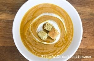Featured image for slow cooker spicy pumpkin soup