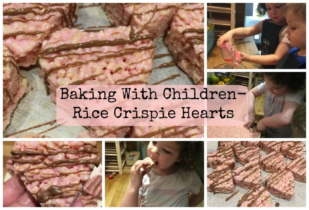 Baking with Children Guest Post- Rice Crispie Hearts