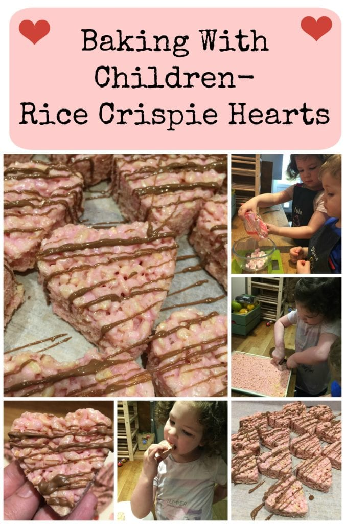 Rice crispie hearts