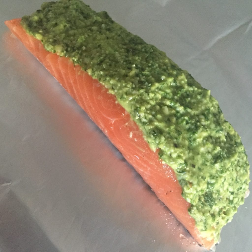 Green Pesto Salmo