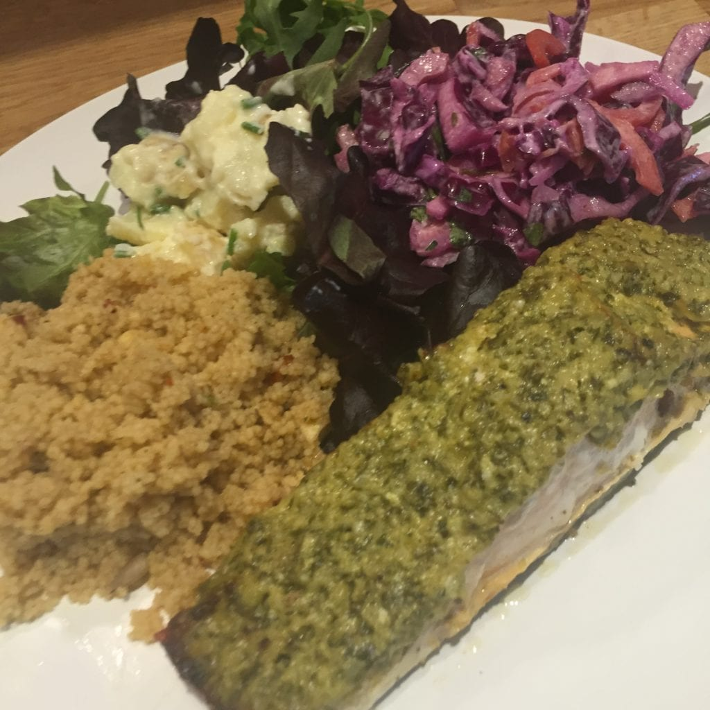 Green Pesto Salmon