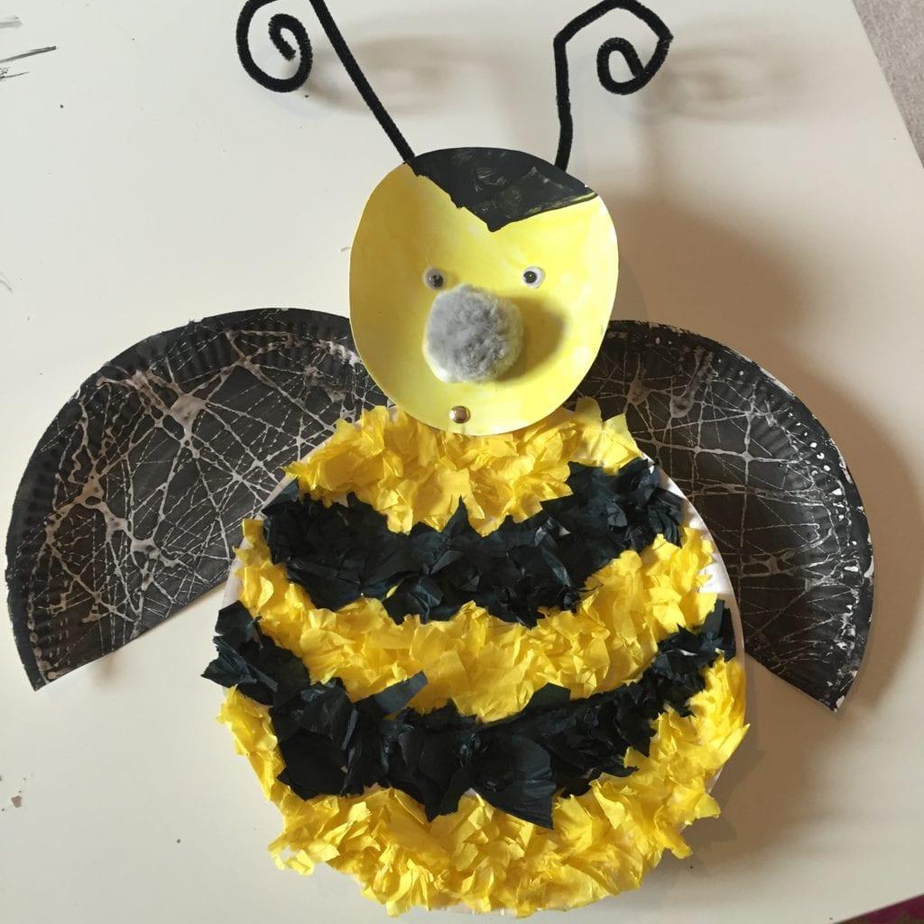 Paper Plate Bumble Bee & Paper Plate Bumble Bee A Simple Kids Craft - Blissful Domestication