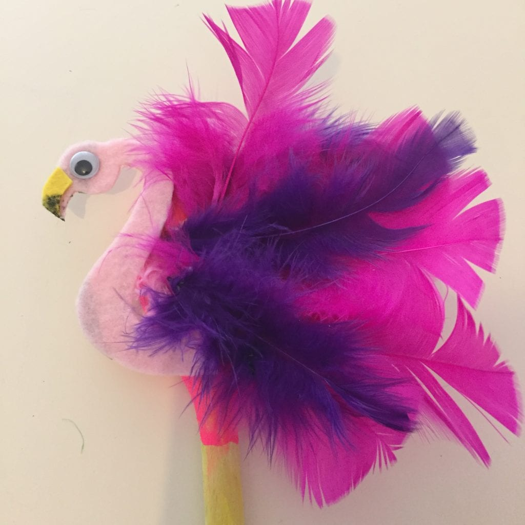Wooden Spoon Flamingo