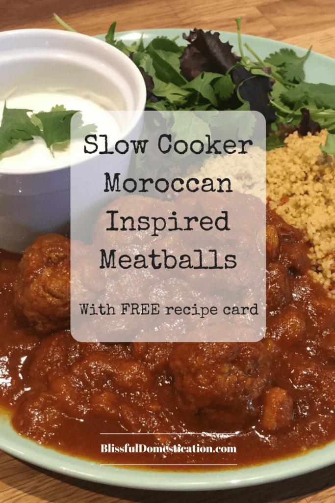 Moroccan Inspired Meatballs