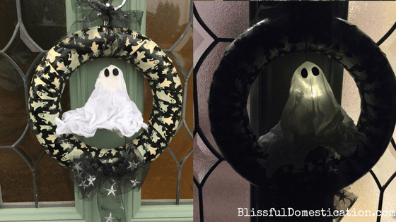 Easy Halloween Wreaths with Duck Tape