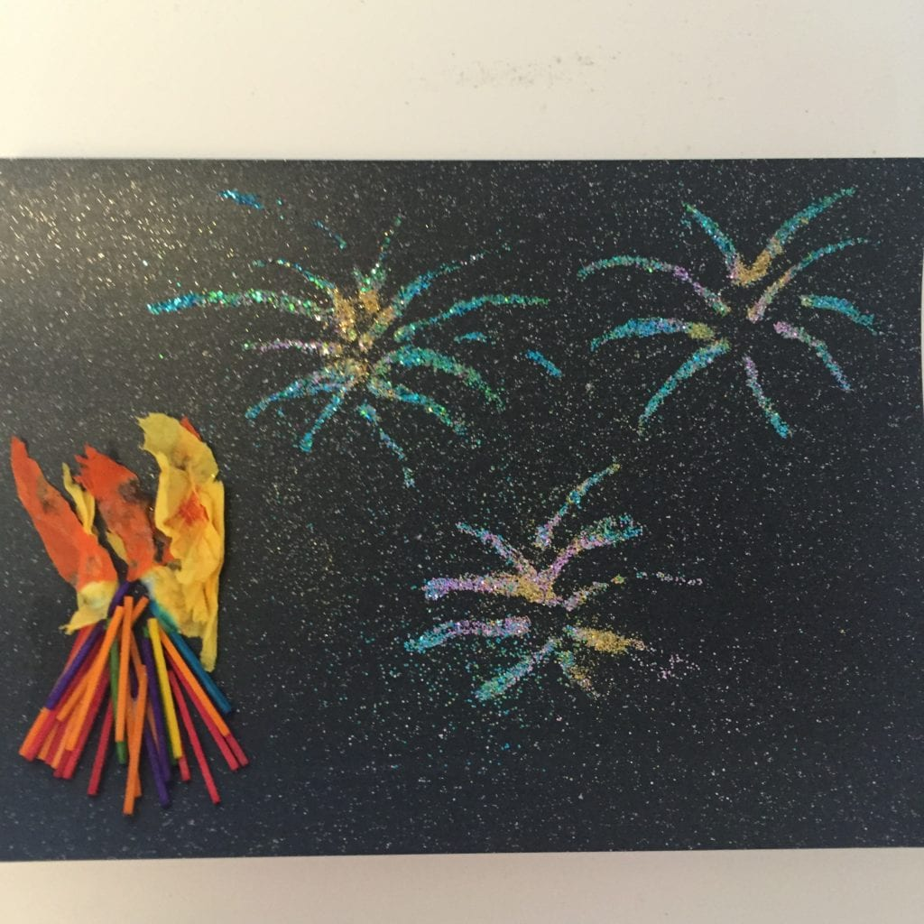 Bonfire Night Collages