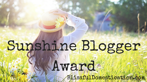 The Sunshine Blogger Award