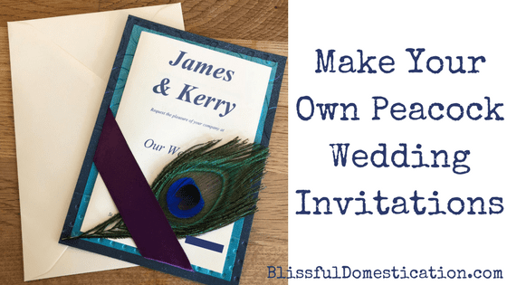 Make Your Own Peacock Wedding Invitations