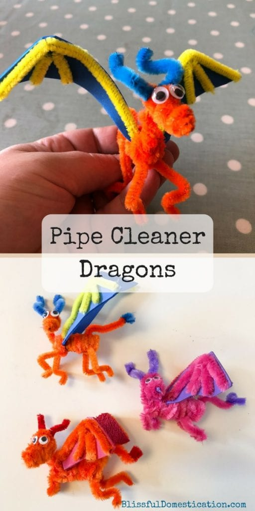 pipe cleaner dragon pin