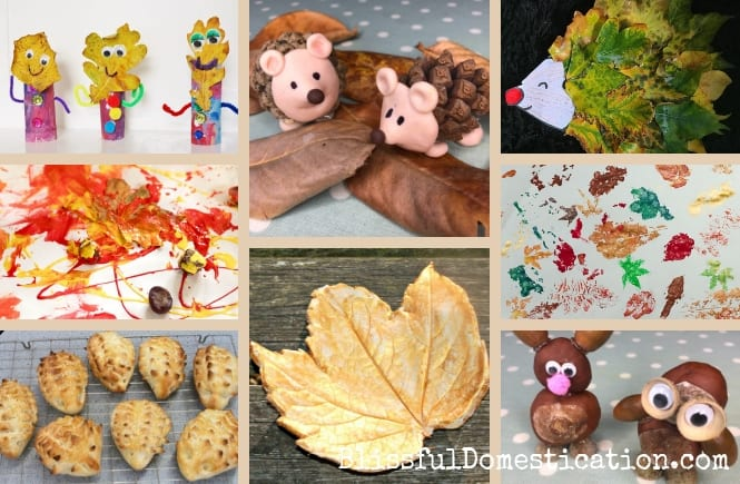 19 Nature Inspired Autumn Kids Crafts Blissful Domestication
