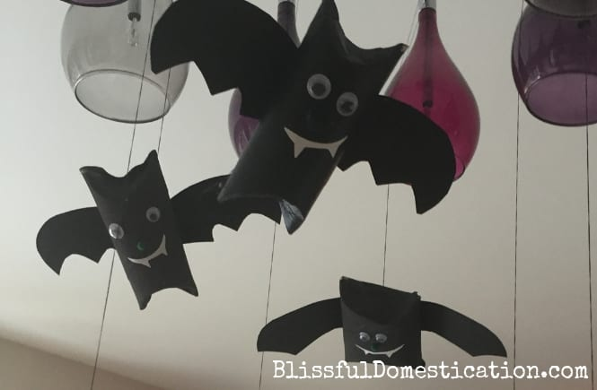 Toilet Roll Halloween Bat Kids Craft
