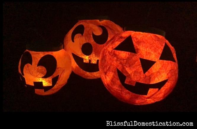 Paper Mache Jack O Lanterns