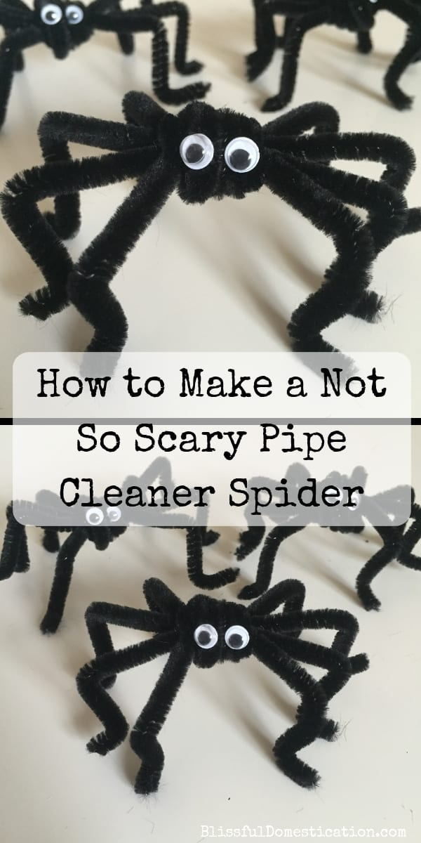 How to Make Not So Scary Pipe Cleaner Spiders