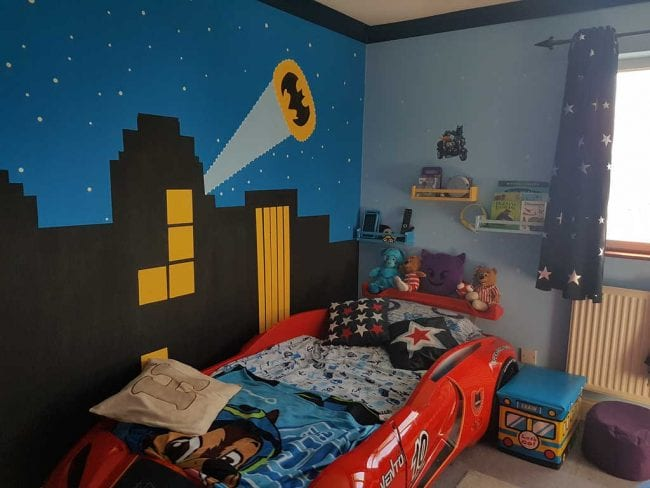 Batman feature wall