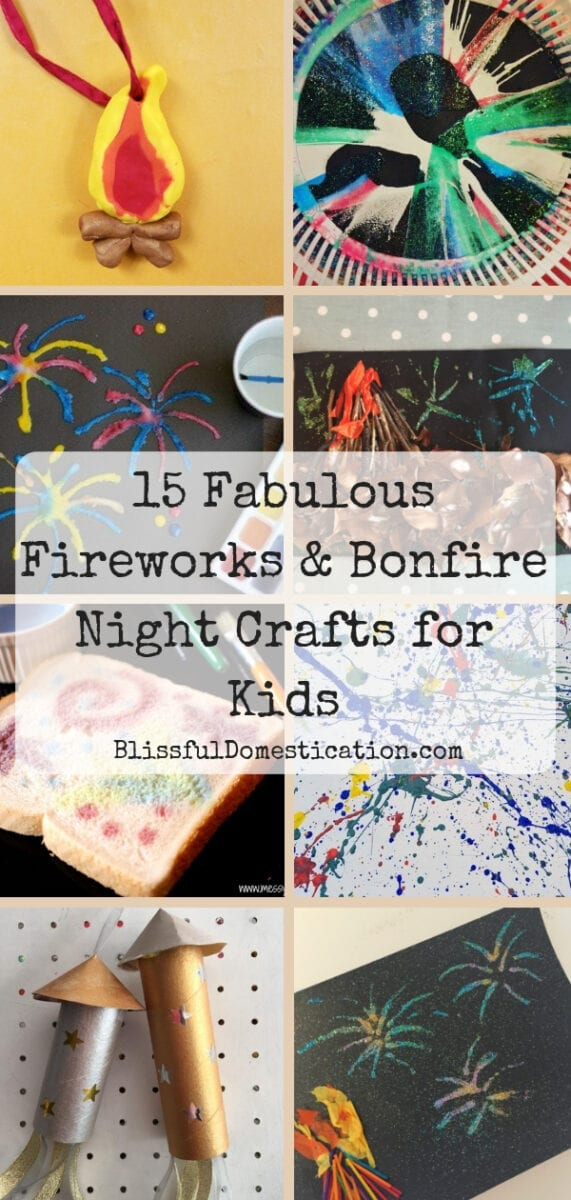 Fireworks and Bonfire Night Crafts for Kids