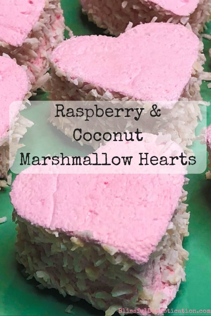 Raspberry and Coconut Marshmallow Hearts