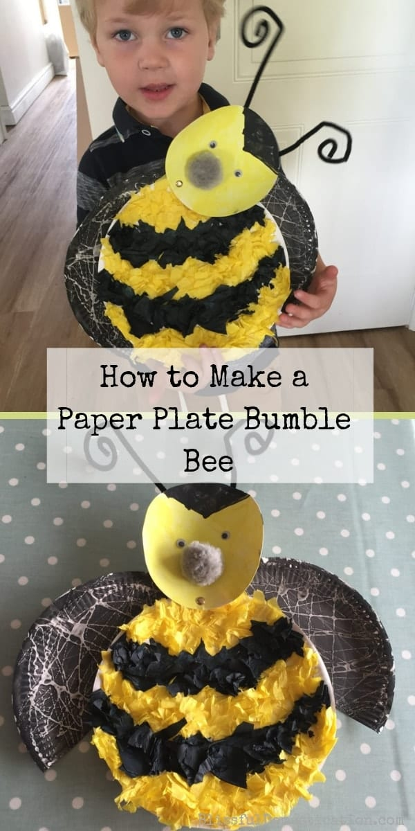 Paper Plate Bumble Bee PIn