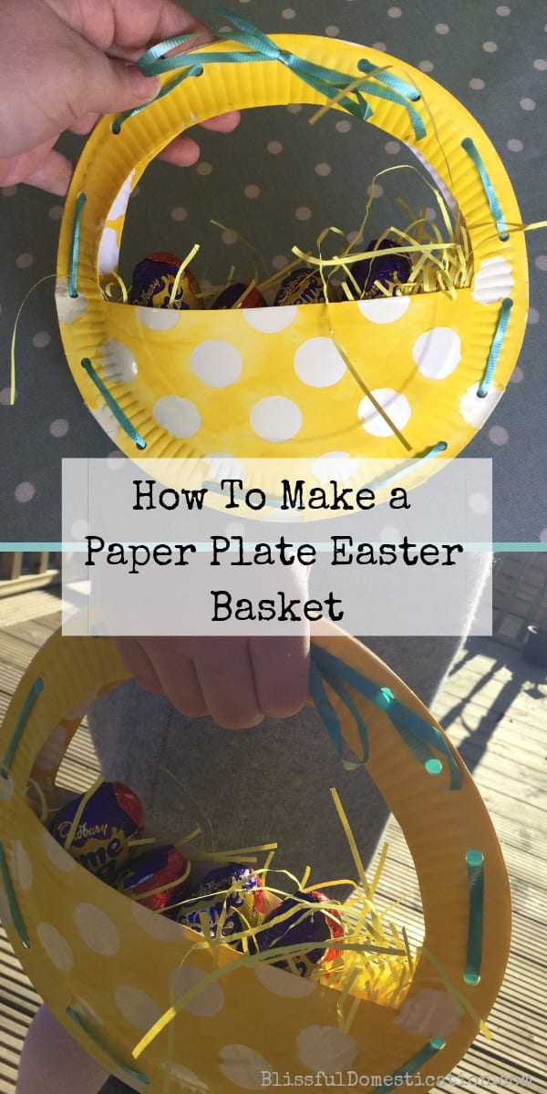 Paper Plate Easter Basket Pin