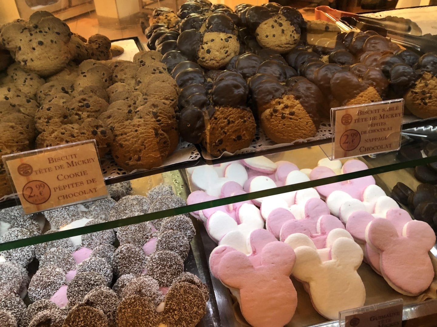 A selection of Disney themed sweet treats available at Disneyland Paris