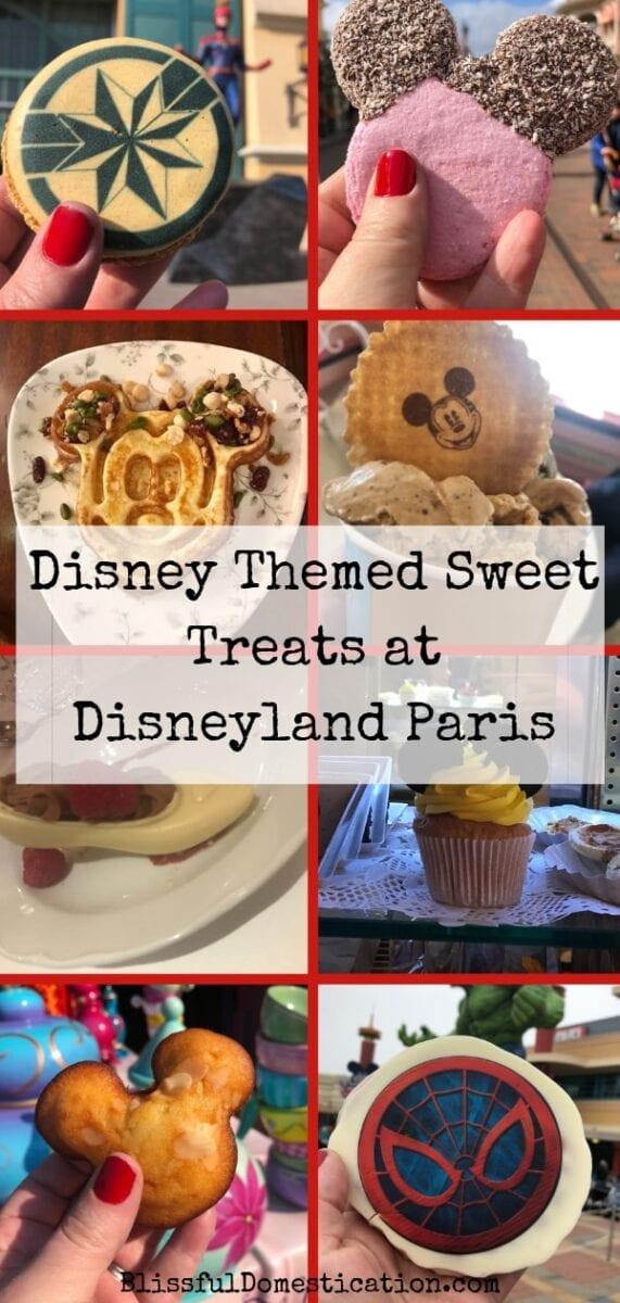 Disney themed sweet treats at Disneyland Paris pin