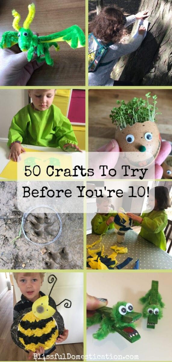 50 Crafts To Try Before You're 10 Pin