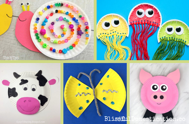 Paper Plate Animals Blissful Domestication