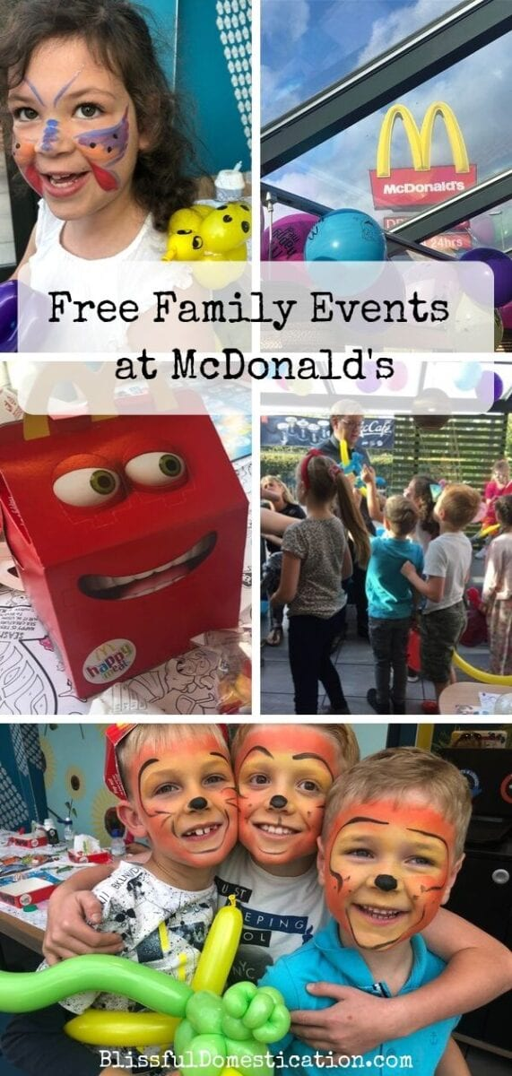 Pin for Free Family Events at McDonald's