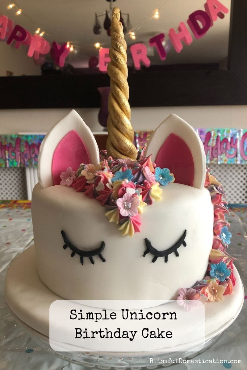 unicorn birthday cake pin