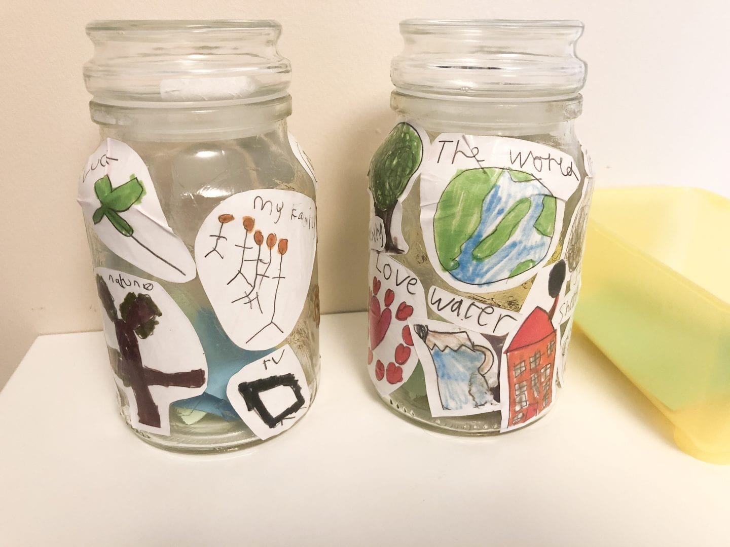 the back of the finsihed gratitude jars